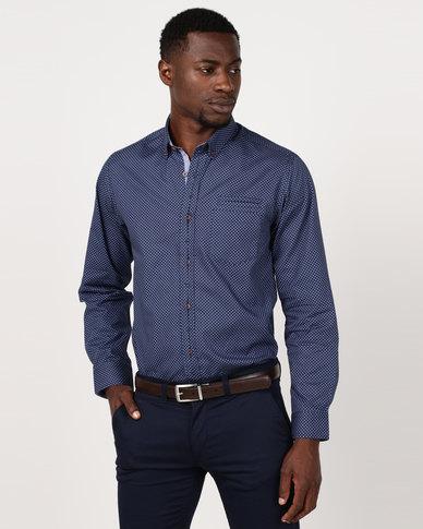 JCrew Printed Fancy Formal Shirt Blue