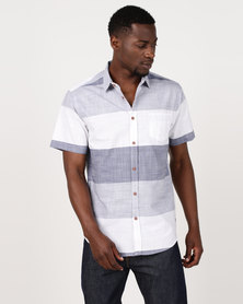 JCrew Bold Horizontal Stripe Shirt Grey