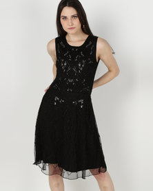 cath.nic By Queenspark Special Glamour Woven Dress Black