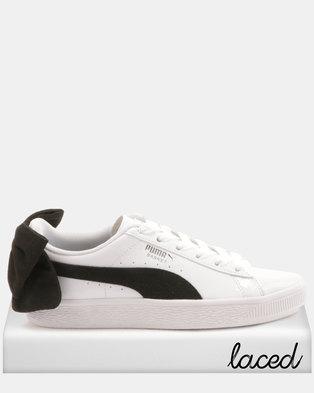 Puma Sportstyle Prime Basket Bow SB Wns Sneakers White Black ff9614e2b