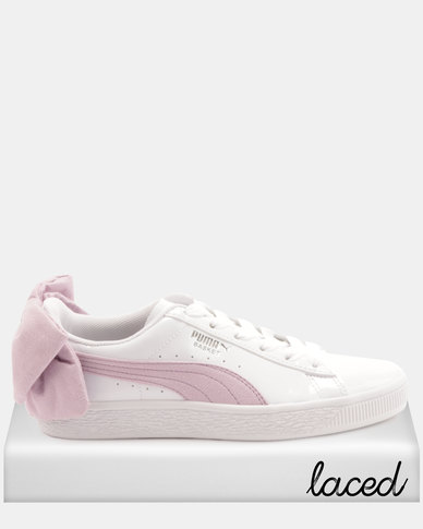 new arrival b5a86 2d994 Puma Sportstyle Prime Basket Bow SB Wns Sneakers White Winsome