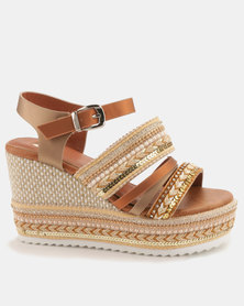 Footwork Hayes Wedges Tan