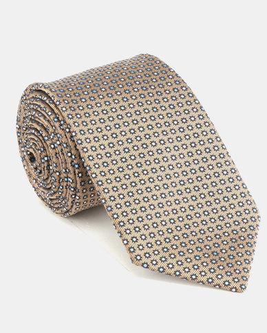 JCrew Taupe & Blue Design Tie Taupe