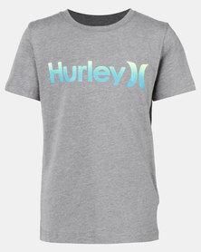 Hurley Carbon Heather One & Only Gradient Tee Blue