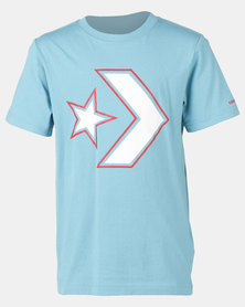 Converse Cnvb Outlined Star Chevron Tee Blue