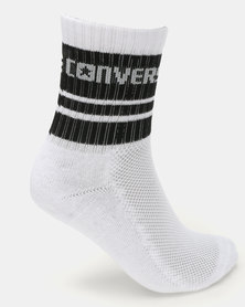 Converse Basic Wordmark Crew Socks White