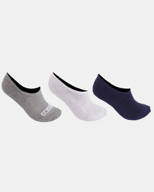 Converse Basic Wordmark No Show Socks Multi