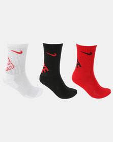 Nike Hbr Dri-Fit Crew Socks University Red