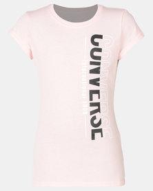 Converse CNVG Vertical Spilt Tee Converse Storm Pink