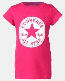 Converse CNVG Chuck Taylor Sig Tee Pink Pop