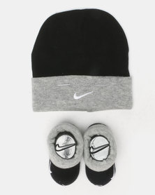 Nike Simple Swoosh Hat and Bootie Black/Grey