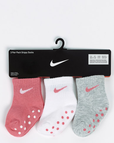 Nike Girls Gripper Socks Pink Nebula