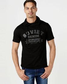 Soviet Wade Short Sleeve Snood Black