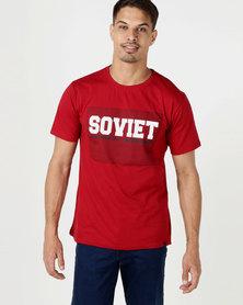 Soviet M Tigers Short Sleeve Crew Neck Logo Tee Red