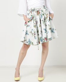 Rustiq Celia Circle Skirt Print Multi