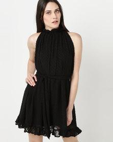 Rustiq Gia Gathered Dress Black