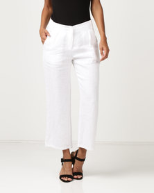 G Couture Linen Culottes White