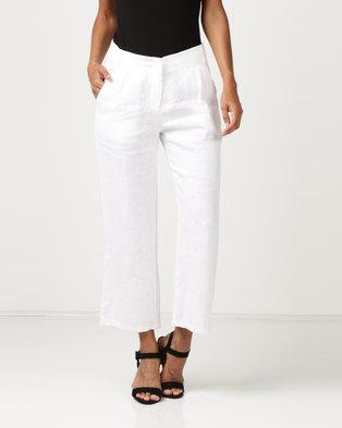 G Couture Linen Culottes White