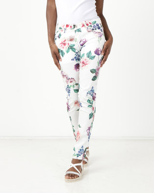 15c6b930fc3 G Couture Printed Summer Skinny White