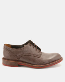 Bronx Men Jump Leather Lace Ups Brown