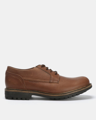 Bronx Men Sasso Leather Lace Ups Brown