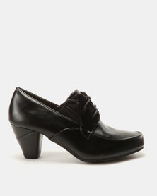 Carlo Bossi Lace Up Heel Black