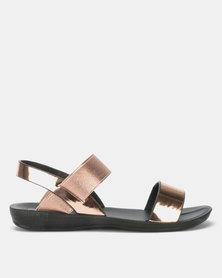Candy Metallic Strap Sandal Bronze