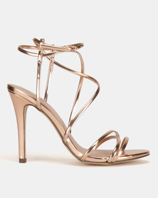 Call It Spring Viravira Heeled Sandals Rose Gold