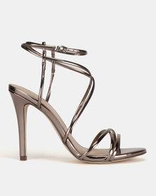 Call It Spring Viravira Heeled Sandals Pewter