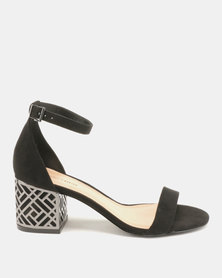 Call It Spring Aferanna Smooth Low-Mid Heels Black