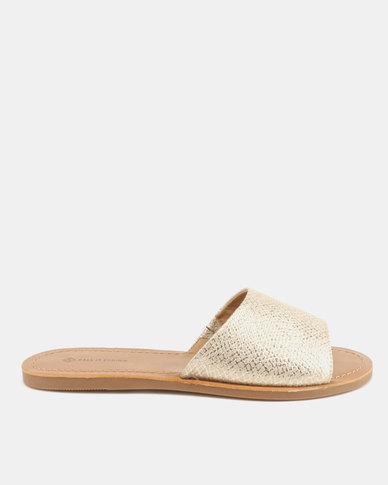 73655fb0e Call It Spring Thirenia Flat Slide Sandals Champagne