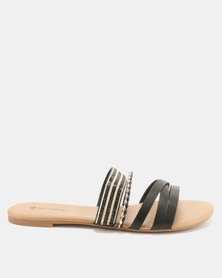 Call It Spring Kucerova Flat Slip On Sandals Black