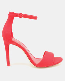 Call It Spring Dellmar Ankle Strapped Heel Sandals Red