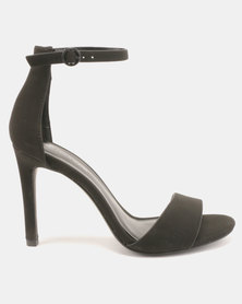 Call It Spring Dellmar Ankle Strapped Heel Sandals Black