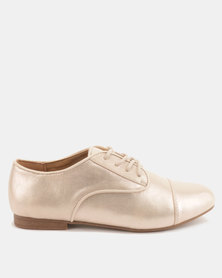 Call It Spring Balinia Flat Lace Up Oxfords Rose Gold