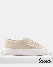 Superga Classic Canvas Cafe Noir White