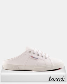 Superga Canvas Push Ins White
