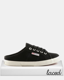 Superga Canvas Push In Black/White