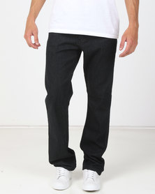 Soviet Ralph Straight Leg Denim Jeans Over Dye Black