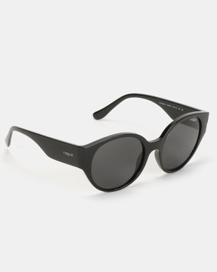 5ffe8440468 Zando. Vogue Round Sunglasses Black Serigraphy