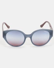Vogue Round Sunglasses Opal Light Blue/Serigraphy