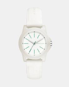 Armani Exchange Lady Banks Silicone Watch White