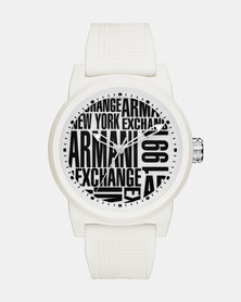 Armani Exchange Atlc Silicone Watch White