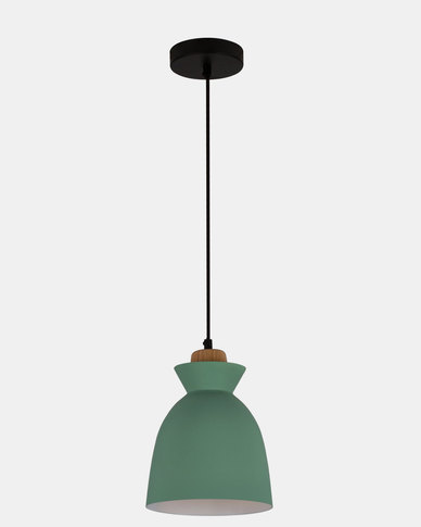 Eurolux Charlotte Pendant Green and Wood