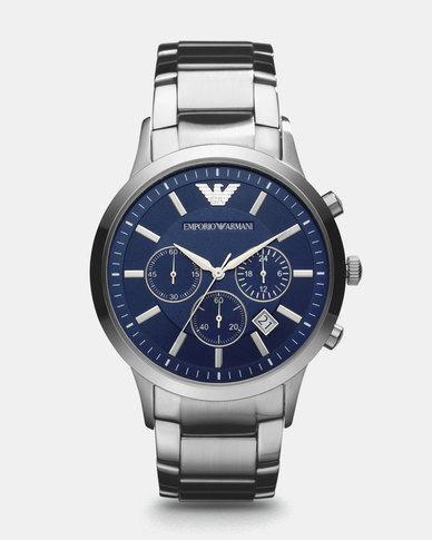 Emporio Armani Renato Watch Silver  1e19d9ec4