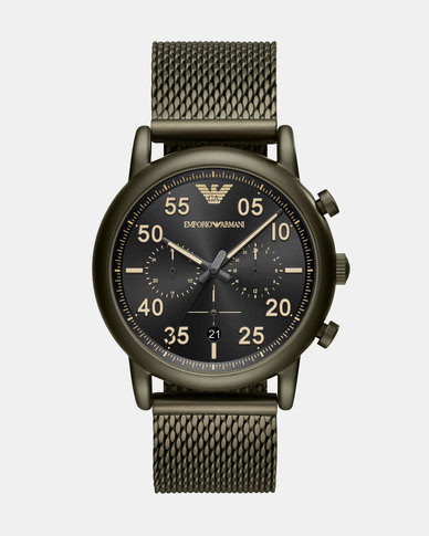 Emporio Armani Luigi Watch Green  9679a64e762b