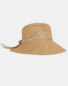You & I Woven Bucket Hat Natural