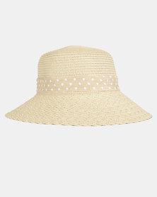 You & I  Woven Bucket Hat Stone