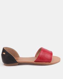 Miss Black Mbali Flat Sandals Red