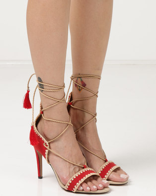 Miss Black Jolene Heel Sandals Red